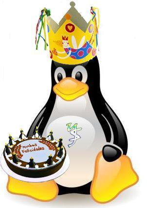 Tux celebra el Cumpleaños de Linux
