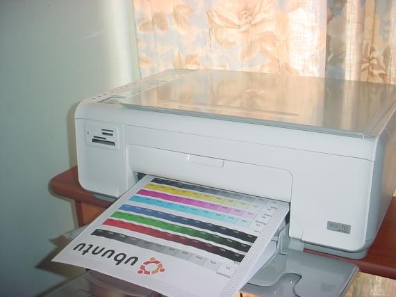 Imprimiendo la página de pruebas