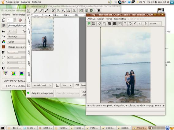 Escaneando imágenes correctamente