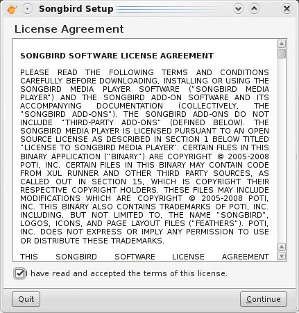 Aceptamos la licencia