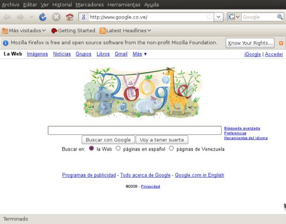 Arte de google para el nuevo año